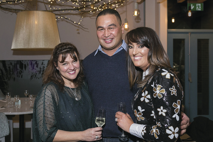 Vicky Casey (right ) owner of Caprice Cafe with Pat Lam, Connacht Rugby & his wife Steph attending the West of Ireland Launch of Skinny Prosecco at Caprice Cafe.  Photo: Paul Fennell